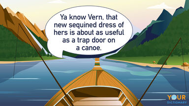 funny southern trap door on a canoe words