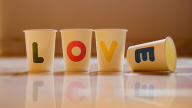 silent e word love on paper cups
