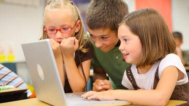children using laptop computer terms