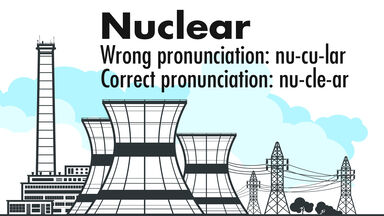pronunciation of the word nuclear