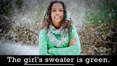 girl's sweater is green possessive grammar example