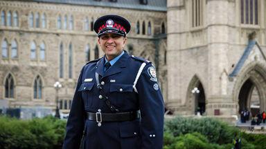 Canadian policeman in uniform