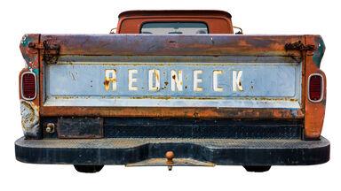 redneck slang word on back of truck