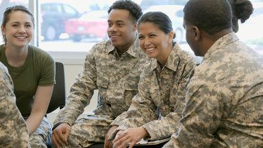 military recruits use slang