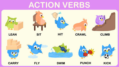 examples of action verbs for word games