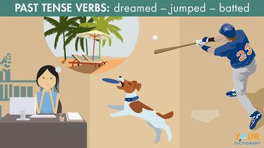past tense verbs example