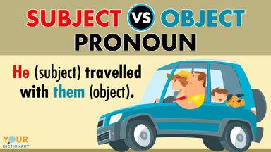 subject versus object pronoun