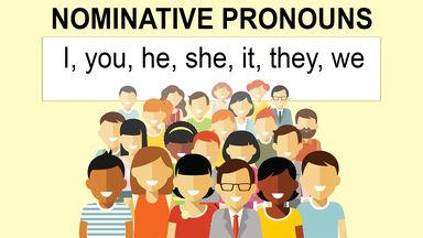 nominative pronouns example