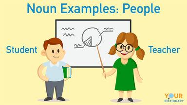 noun examples of student and teacher
