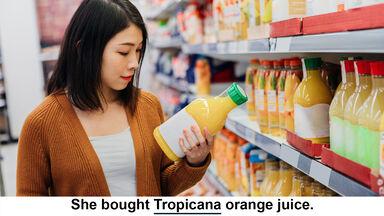 Tropicana is a proper noun example