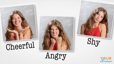 Adjectives describing girls emotions