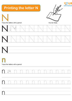 tracing the letter n