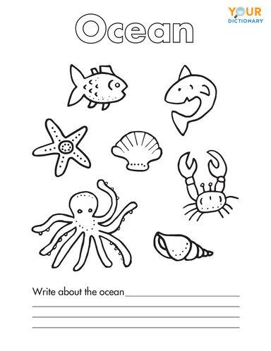 ocean coloring page