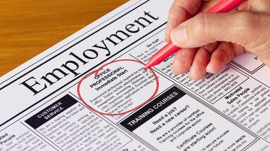 circling a classified ad job description