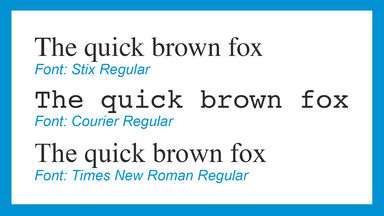 Differences between fonts