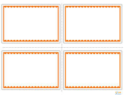 blank flashcards