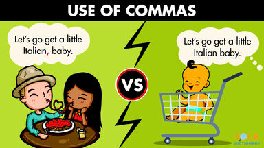 importance of commas usage example