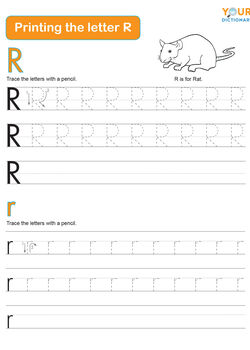 tracing the letter r