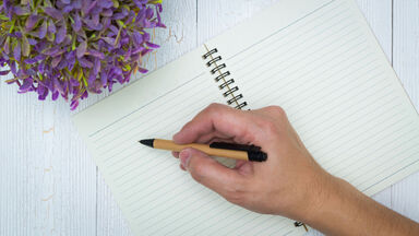 writing obituary in journal