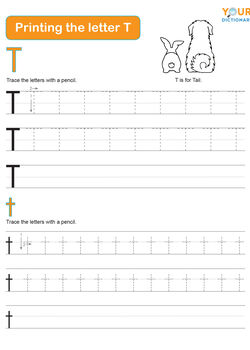 tracing the letter t