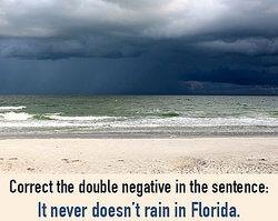 Double Negative Trouble