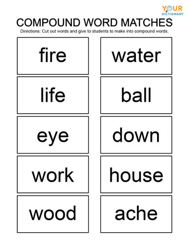 Compound Word Matches Game
