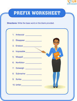 prefix worksheet