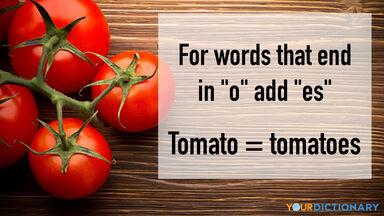 irregular plural noun tomato tomatoes