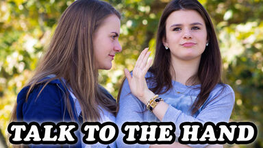 90s phrase Teen girls 'Talk to the Hand'