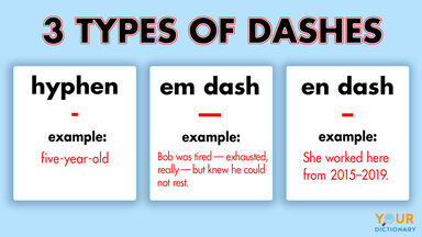 types of dashes example