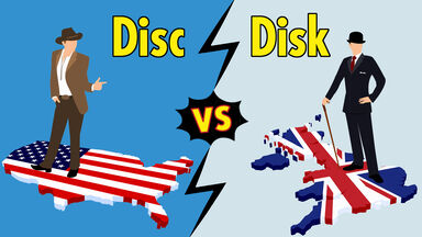 use of disc vs disk