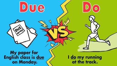 example due vs do