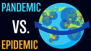 Pandemic versus Epidemic graphic
