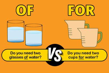 of vs for proper grammar
