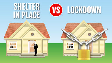 Shelter in Place VS Lockdown example