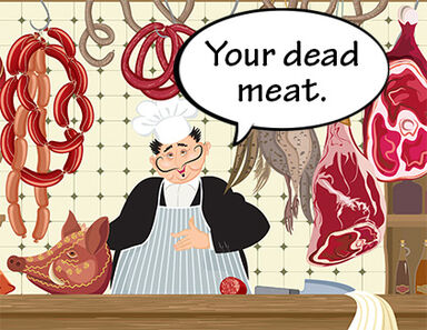 Deli counter Your vs You're Dead Meat