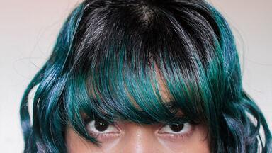 dyed hair description example