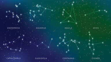Star constellations in night sky