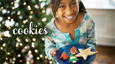 popular Christmas word cookies