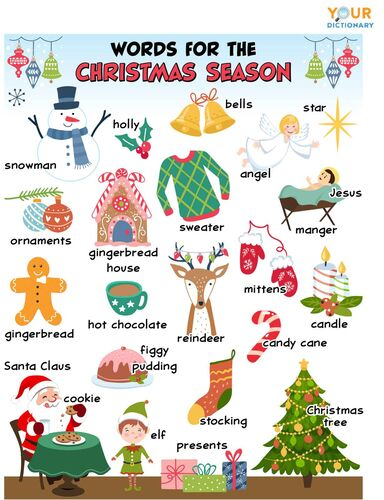 popular words for the Christmas season