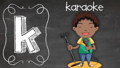 Positive K word Karoake boy singing