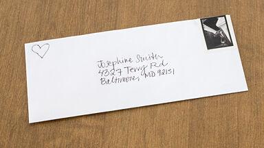 address on an envelope