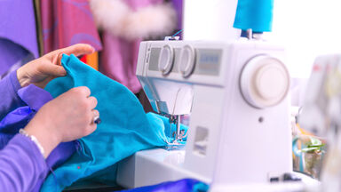 sewing on basic sewing machine