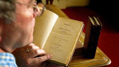 John Sibbald reading Pride and Prejudice
