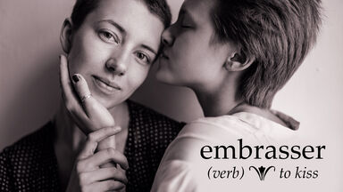 embrasser is french for to kiss