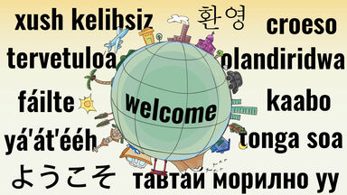 Welcome in different languages around world