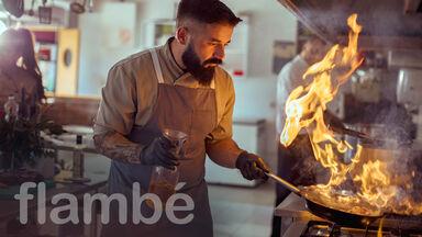 flambé cooking term example