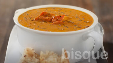 cooking term example of bisque