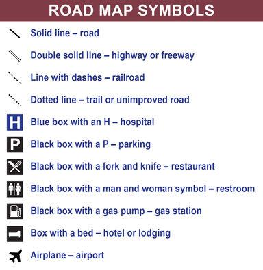 road map symbols