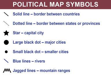 political map symbols